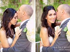 Bride and Groom, Couples portraits, first kiss, bel air bride, bel air presbyterian :: James and Emily's Wedding at Bel Air Presbyterian Church in Los Angeles, CA :: with Brittanee