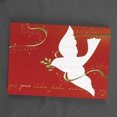 Peace to Everyone Holiday Card weddingneeds.carlsoncraft.com