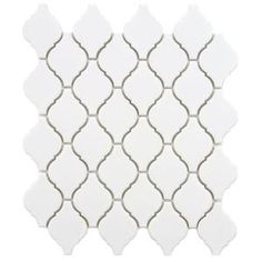 merola tile arabesque matte white 978 in x in x 6 mm porcelain mosaic tile