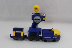 GeoTrax Blue and Yellow Stallion Pony Mustang RC Train with Remote  #FisherPrice
