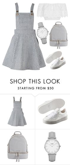 """""""Untitled #1279"""" by twil24 ❤ liked on Polyvore featuring Puma, MICHAEL Michael Kors, Topshop and Miguelina"""