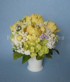 Yellow Tulip Sugar Vase by Petalsweet Cakes   Sugar vase fil…   Flickr