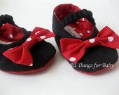 Minnie Mouse Inspired baby shoes