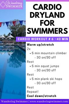 Dry Land Swim Workouts, Workouts For Swimmers, Fun Workouts, At Home Workouts, Swimming Drills, Competitive Swimming, Swimming Workouts, Swimmer Quotes, Warm Up Stretches