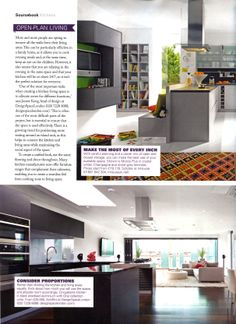 Open plan living: consider how much you use your kitchen/living room and allocate space accordingly. Cinqueterre kitchen in black anodised aluminium from Schiffini available from DesignSpaceLondon http://designspacelondon.com Grand Designs January 2014