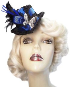 Royal Butterfly Blue Mini Victorian Steampunk by JenkittysCloset, $30.00