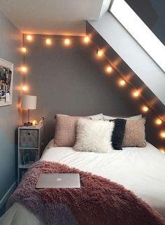 Bedroom Ideas For Small Rooms Women, Cool Teen Bedrooms, Diy Room Decor For Teens, Teenage Girl Bedrooms, Room Ideas Bedroom, Small Room Bedroom, Girls Bedroom, Girl Rooms, College Bedrooms