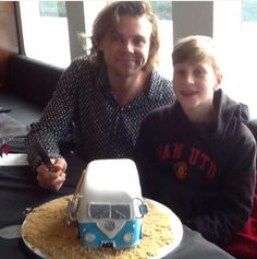 Ashton Irwin and his brother on his birthday July 7, 2015