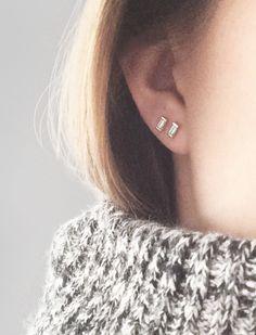 Mini Bar Stud earrings in Rose Gold fill, short gold bar stud, gold fill bar post earrings, gold bar earring, minimalist jewelry - Fine Jewelry Ideas Bar Stud Earrings, Gold Hoop Earrings, Heart Earrings, Crystal Earrings, Clip On Earrings, Diamond Earrings, Barrettes, Minimalist Jewelry, Diamond Studs