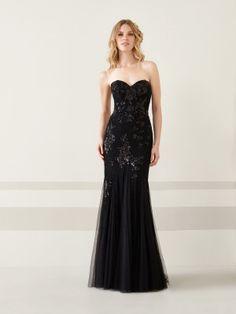 a86f5a7c1 vestido-de-fiesta-negro-falda-sirena-en-encaje-