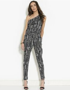 Pin for Later: Jump Into Summer in a Printed Jumpsuit Only Zig-Zag-Printed Jumpsuit Only Zig-Zag One-Shoulder Jumpsuit (£30)