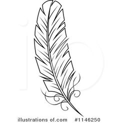 Feather Stock Illustration Images 25317 Feather | Coloring Pages ...
