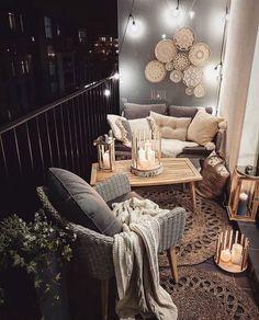 Best and Amazing Small Living Room Design Ideas Marzena Marideko Soft Neutral Balcony Decor Inspiration Apartment Balcony Decorating, Apartment Balconies, Apartment Living, Apartment Ideas, Apartment Design, Small Patio Decorating, Apartments Decorating, Apartment Furniture, Apartment Porch Decor