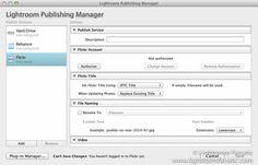 adobe lightroom publishing manager flickr
