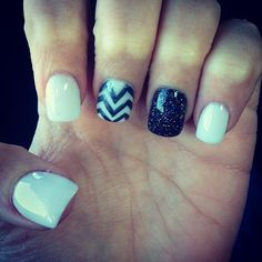 Hehe, I would probably paint something on two of the white nails, and leave one bare