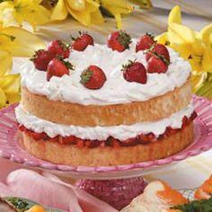 Strawberry Cream Cake -has a hint of orange in it.