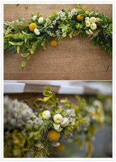 DIY floral garland from Local Social | DIY Wedding, Flowers + Greenery | 100 Layer Cake