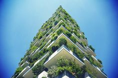 "Bosco Verticale (\""vertical forest\"") in Milan"