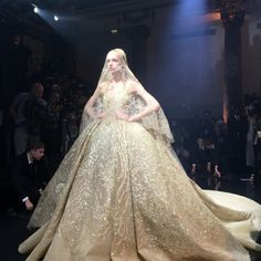 Final look at the Ellie Saab fall 2015 couture show