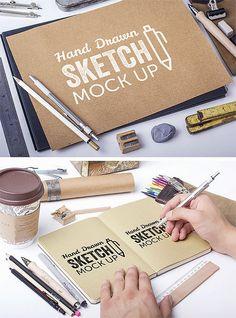 10+ Free PSD Sketchbook Mockups http://www.tinydesignr.com/2015/04/free-psd-sketchbook-mockups.html