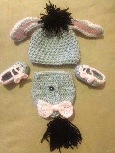 Eeyore baby set by HookdBytheSea on Etsy
