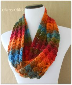 Crochet Scarf Pattern Variegated Yarn : Crocheted Scarf created by Cherry Chick on Pinterest 58 Pins