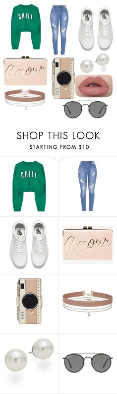 """""""Untitled #268"""" by alexandriamcbride on Polyvore featuring Vans, BCBGMAXAZRIA, Kate Spade, Miss Selfridge, AK Anne Klein and Ray-Ban"""