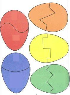 Thema Pasen : puzzel van eieren