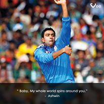 #Ashwin #CarromBall #Cricket #CWC15 #Sports #CricketersPickUpLines #India #MaukaMauka