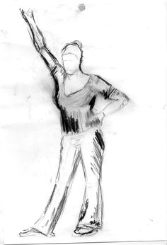 Dibujo del natural. Diferentes poses de figura. Imanol Aizpuru. 2012