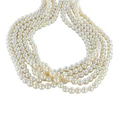 AKOYA PEARLS CULTURED 7mm CREME BAROQUE from New World Gems