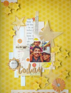 by Michelle Hernandez - she has a color crush on yellow | My Analog Life: Scrapping in Yellow- a color crush