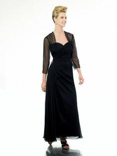 Chiffon Sweetheart Floor-Length Sheath Bridesmaid Dress
