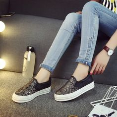 Womens Trendy Design Slip-On Casual Sneakers @shopshoesity