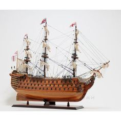 Old Modern Handicraft Hms Victory Exclusive Edition Ship - T034