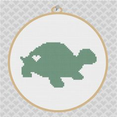 Turtle Silhouette Cross Stitch PDF Pattern 002 by kattuna on Etsy, $3.50