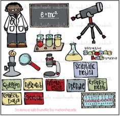 Science lab clip art - by Melonheadz Science Tools, Physical Science, Science Fair, Science Projects, Science Ideas, Science Classroom, Teaching Science, Science Education, Teaching Ideas