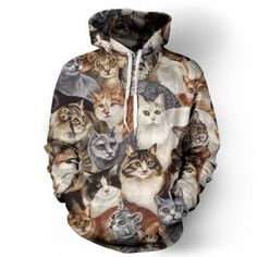 cat hoodie|discount: tumblr20off  kawaii vintage funny cat hipster fachin hoodie jacket top under20 under30 newchic