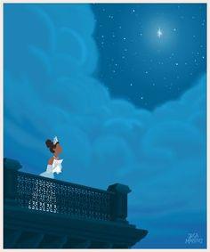 isney Princess Tiana (The Princess and the Frog) GIF animation by Jeca Martinez