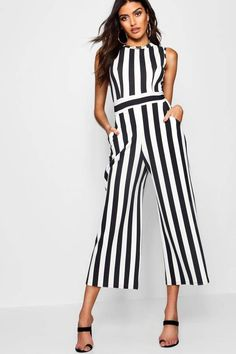 Super adorable & flattering striped jumpsuit for the plus size woman. There aren't tall sizes specifically, but the model description is that she is & is wearing a I've got to try this one! Striped Jumpsuit, Black Jumpsuit, Junior Rompers, Romper Outfit, Review Dresses, Faux Leather Jackets, Cute Outfits, Plus Size, Clothes
