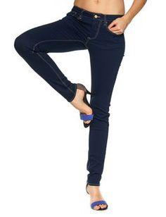 Le Temps Des Cerises | farkut, tummansininen Jeans, Fashion, Moda, Fashion Styles, Fasion, Green Jeans, Denim Pants, Jeans Pants