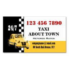 Taxi cab yellow black white