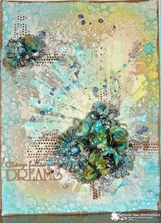 Messy page, Always follow your dreams by Marleen van Meerendonk. | Art Anthology