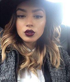 plum lipstick, Plum chic fall makeup look