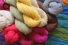 Silky Wool is a beautifully textured yarn combining the versatility of wool, the luxurious qualities of silk, and the durability of nylon. It's only $10 a skein, and several bright colors have just arrived!