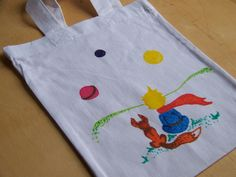 Kresba na textil by Lady Lu. * #bag #malyprinc #tasticka #littleprince #drawing #ladylu