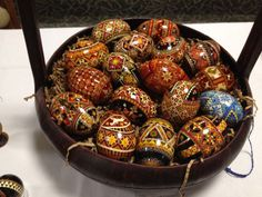 "When I teach a class on Lemko Drop-Pull pysanka, I have several ideas for preparation: #1. A pre-divided egg, with a basic ""rosette"" to begin students' learning #2. Take-home motif handout..."