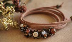 Boho Jewelry Summerberry Leather Wrap BraceletHeadband by ByLEXY
