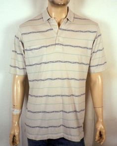 306bb833 vtg 80s Ben Hogan Polo Shirt loud striped soft thin GOLF retro SZ L Casual  Shirts