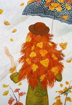 View album on Yandex. Autumn Painting, Autumn Art, Autumn Leaves, Fallen Leaves, Fall Drawings, Autumn Illustration, Autumn Crafts, Hello Autumn, Belle Photo
